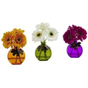 nearly natural 3-piece Gerber Daisy Arrangement Set