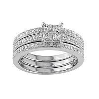 Diamond Engagement Ring Set in 10k White Gold (3/8 Carat T.W.)