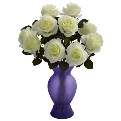 nearly natural Roses Purple Arrangement