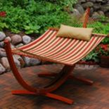 Algoma 2-piece Striped Hammock & Stand Set