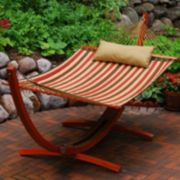 Algoma 2-piece Striped Hammock & Stand Set