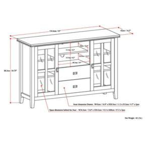 Simpli Home Artisan Tall Black TV Stand
