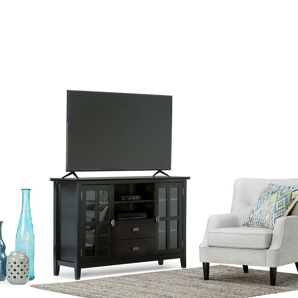 Simpli Home Artisan Tall Black TV Stand