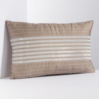 Simply Vera Vera Wang Sequin Stripe Throw Pillow