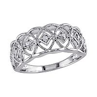 1/10 Carat T.W. Diamond Sterling Silver Openwork Ring