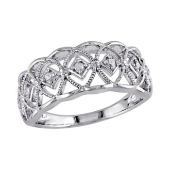Stella Grace 1/10 Carat T.W. Diamond Sterling Silver Openwork Ring