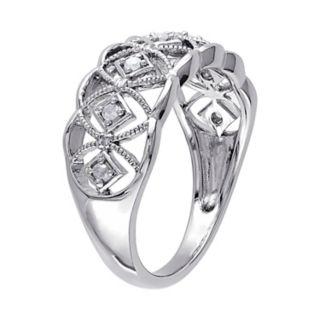 Stella Grace 1/10 Carat T.W. Diamond Sterling Silver Openwork Ring