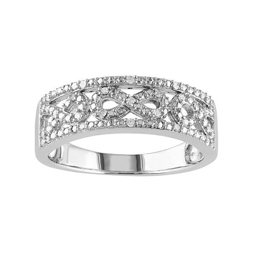 1/10 Carat T.W. Diamond Sterling Silver Infinity Ring
