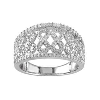 1/4 Carat T.W. Diamond Sterling Silver Infinity Ring