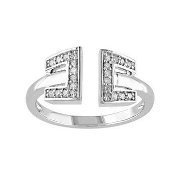 1/8 Carat T.W. Diamond Sterling Silver Open Ring
