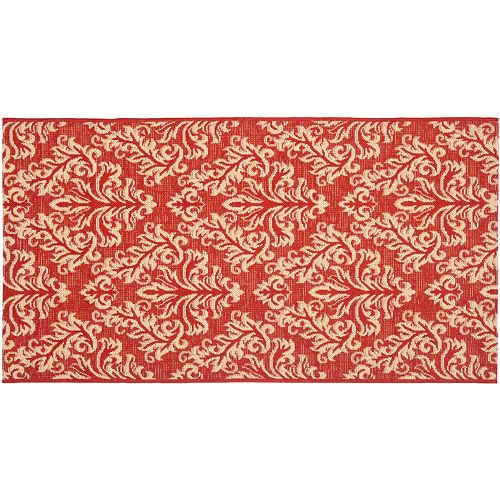 Safavieh Courtyard Leaves Indoor Outdoor Rug