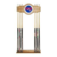 New Jersey Nets Hardwood Classics Billiard Cue Rack with Mirror
