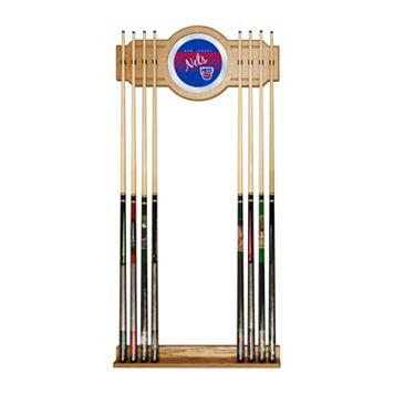 New Jersey Nets Hardwood Classics Billiard Cue Rack with Mirror