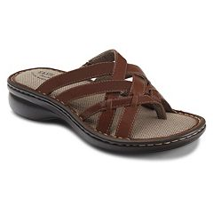 8c625a003294 Eastland Lila Women s Strappy Thong Sandals. Brown Chestnut Black