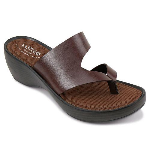2e9c2926e317 Eastland Laurel Women s Thong Wedge Sandals