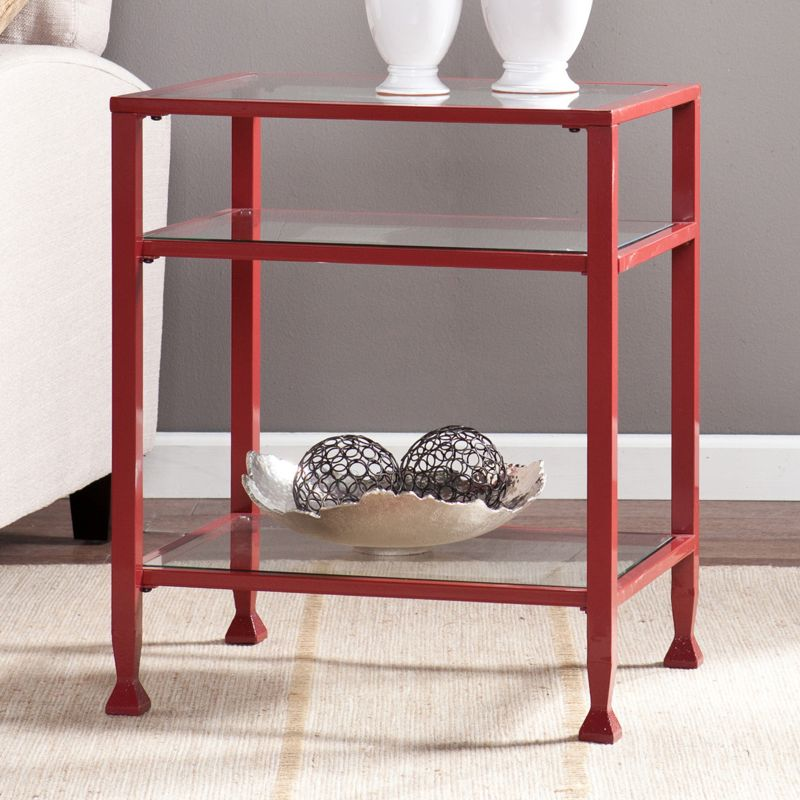 Sullivan End Table, Red