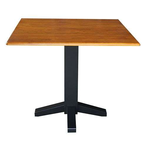 Square Dual Drop Leaf Dining Table