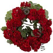 nearly natural 17 in Geranium Wreath
