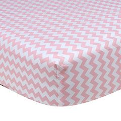 Trend Lab Pink Print Fitted Crib Sheet
