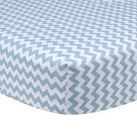 Trend Lab Blue Print Fitted Crib Sheet