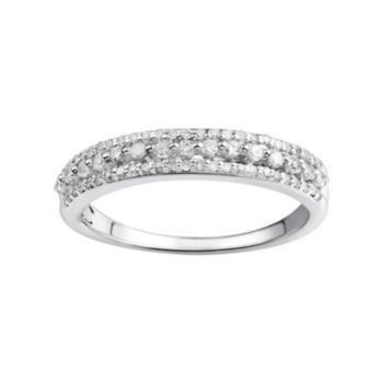 Promise Love Forever 1/3 Carat T.W. Certified Diamond Sterling Silver Wedding Ring