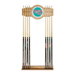 San Antonio Spurs Hardwood Classics Billiard Cue Rack with Mirror