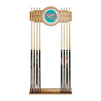 San Antonio Spurs Hardwood Classics Billiard Cue Rack with Mirror