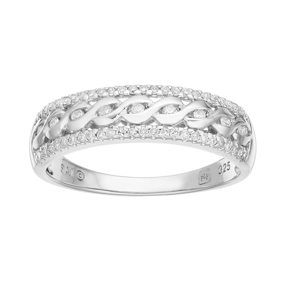 Promise Love Forever 1/4 Carat T.W. Sterling Silver Braided Ring