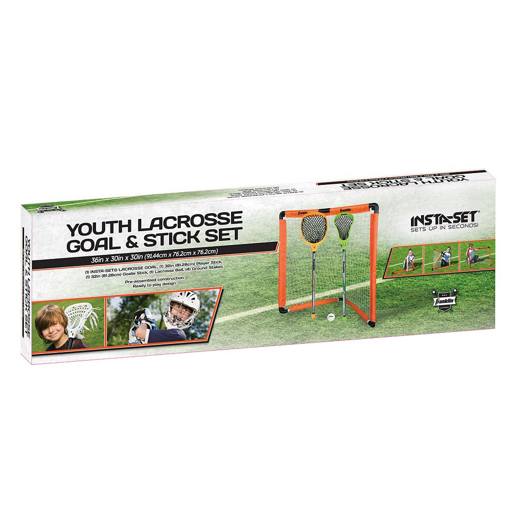 Franklin Sports Lacrosse Goal & Stick Set - Youth