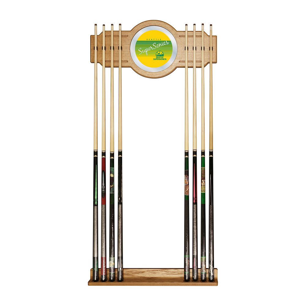 Seattle Super Sonics Hardwood Classics Billiard Cue Rack with Mirror