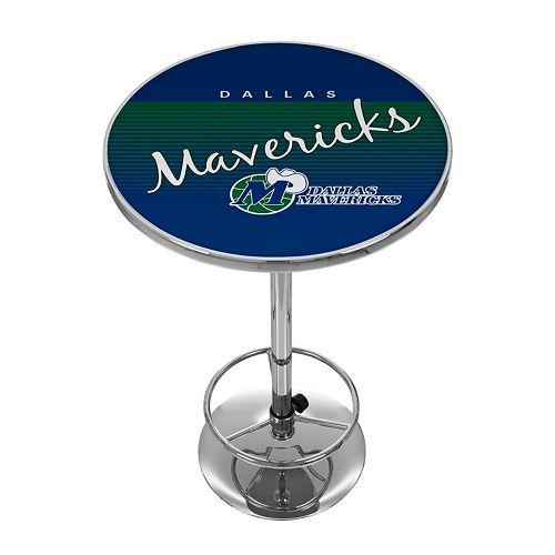 Dallas Mavericks Hardwood Classics Chrome Pub Table