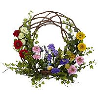nearly natural 22 in Spring Floral Wreath
