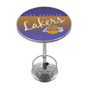 Los Angeles Lakers Hardwood Classics Chrome Pub Table