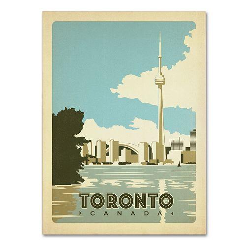 Trademark Fine Art ''Toronto Canada'' Canvas Wall Art