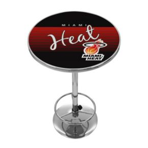 Miami Heat Hardwood Classics Chrome Pub Table