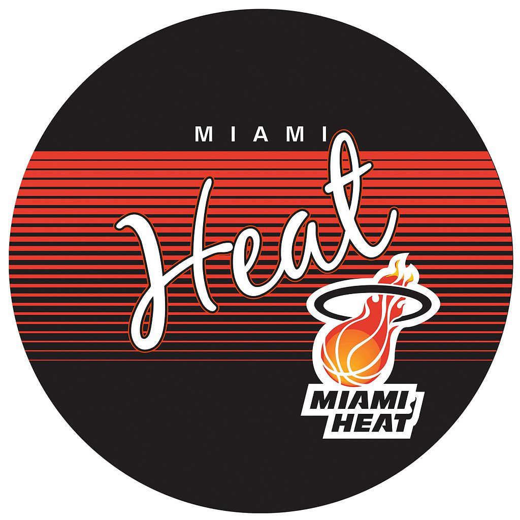 Miami Heat Hardwood Classics Chrome Pub Table