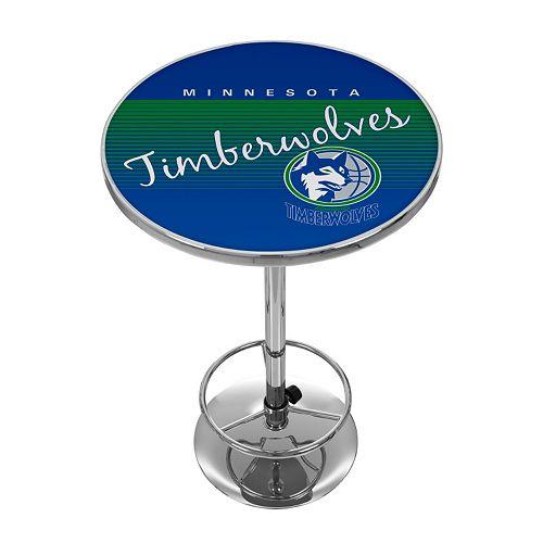 Minnesota Timberwolves Hardwood Classics Chrome Pub Table