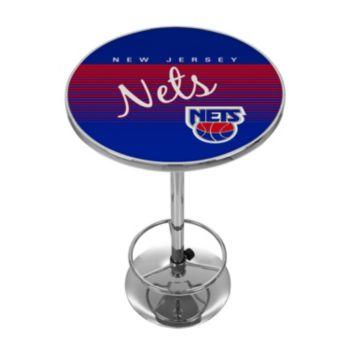 New Jersey Nets Hardwood Classics Chrome Pub Table