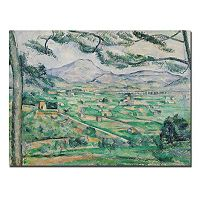 Trademark Fine Art ''Montagne Sainte-Victorie'' Canvas Wall Art by Paul Cezanne