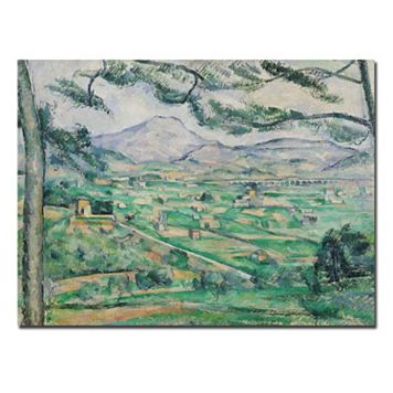 Trademark Fine Art ''Montagne Sainte-Victorie'' Canvas Wall Art by Paul Cezanne