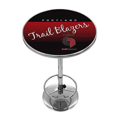Portland Trail Blazers Hardwood Classics Chrome Pub Table