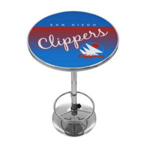San Diego Clippers Hardwood Classics Chrome Pub Table