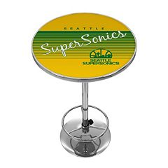 Seattle Super Sonics Hardwood Classics Chrome Pub Table