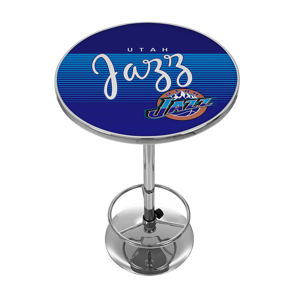Utah Jazz Hardwood Classics Chrome Pub Table
