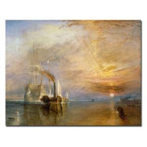 Trademark Fine Art ''The Fighting Temeraire 1839'' Canvas Wall Art