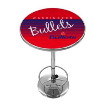 Washington Bullets Hardwood Classics Chrome Pub Table