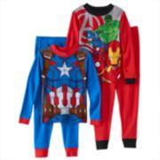 Avengers 4-Piece Pajama Set - Boys 4-10