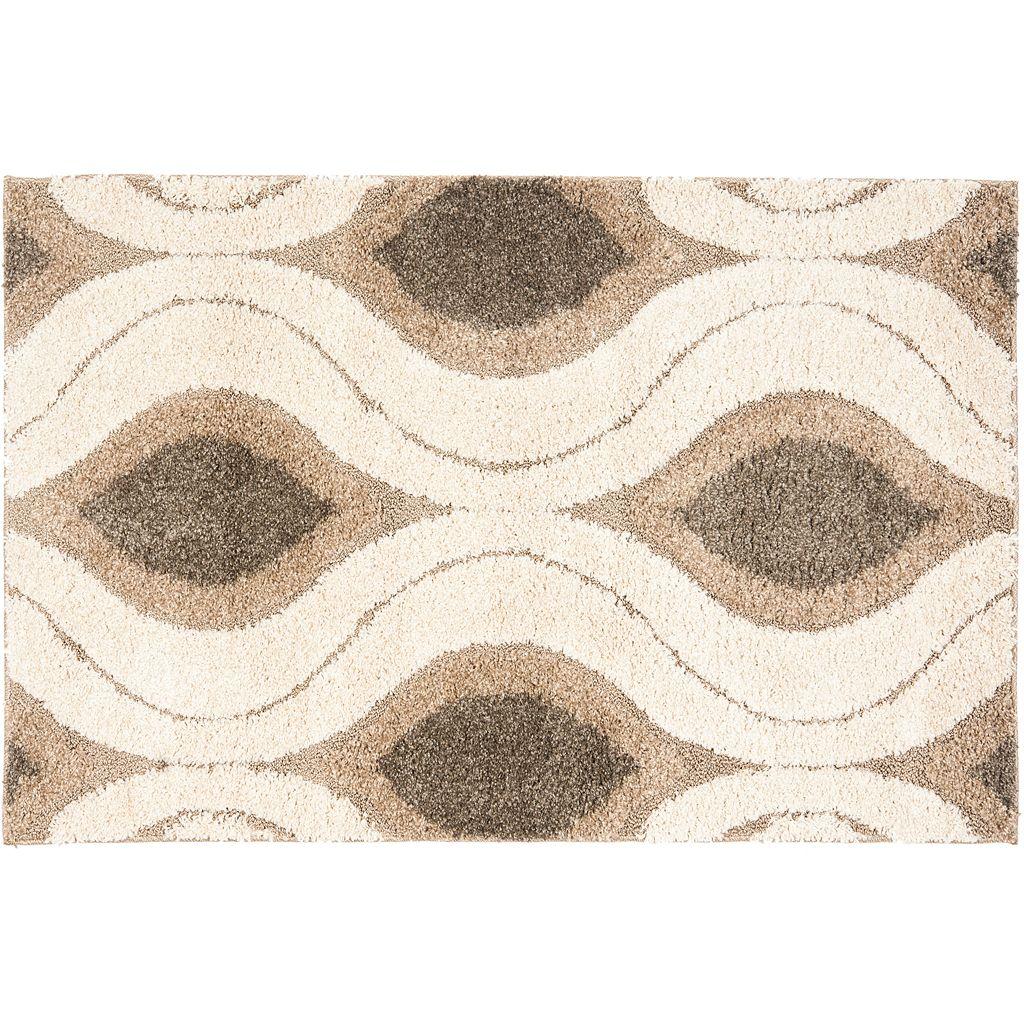 Safavieh Shag Cream Geometric Rug