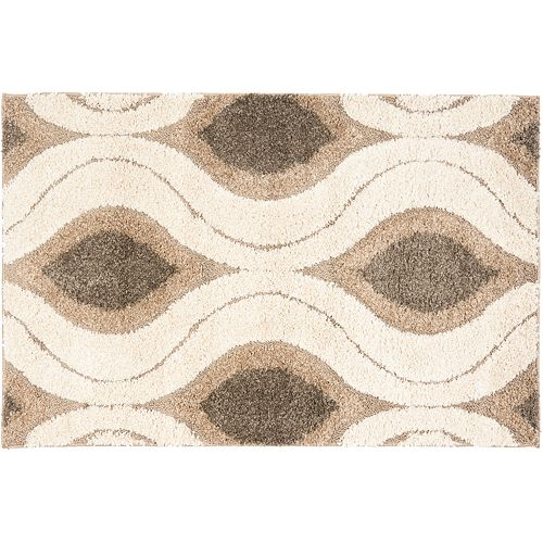 Safavieh Shag Cream Geometric Rug