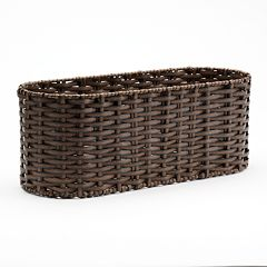 Home Classics® Woven Wicker Tank Topper Basket